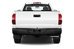 Straight rear view of a 2015 Toyota Tundra 5.7 Auto SR Regular Cab 2 Door Truck Rear View  stock images