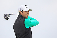 Steven Brown  (ENG) on the 2nd tee during Round 1 of the Dubai Duty Free Irish Open at Ballyliffin Golf Club, Donegal on Thursday 5th July 2018.<br /> Picture:  Thos Caffrey / Golffile