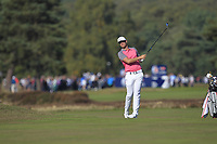 Lucas Bjerregaard (DEN) on the 2nd fairway during the Pro-Am for the Sky Sports British Masters at Walton Heath Golf Club in Tadworth, Surrey, England on Tuesday 10th Oct 2018.<br />