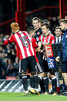 Lasse Vibe of Brentford comes on during the Sky Bet Championship match between Brentford and Leeds United at Griffin Park, London, England on 4 November 2017. Photo by Carlton Myrie.
