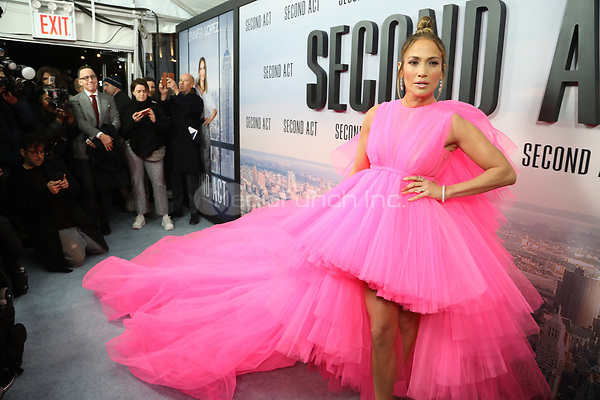 NEW YORK, NY - DECEMBER 12: Jennifer Lopez at the world premiere of Second Act at Regal Union Square Stadium 14 in New York City on December 14, 2018. Credit: Walik Goshorn/MediaPunch