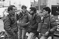 "- Milan, young messengers in motorcycle, said  Pony Express or Mototaxi, tipical job for so called ""Paninari"" people (October 1986).<br />