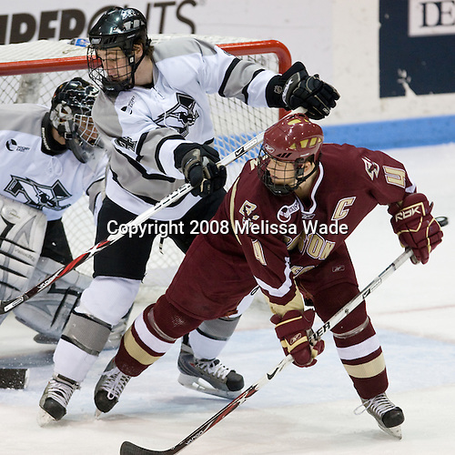 Tyler Sims (Providence 35), Mark Fayne (Providence 4), Mike Brennan (BC 4) - The Boston College Eagles and Providence Friars played to a 2-2 tie on Saturday, March 1, 2008 at Schneider Arena in Providence, Rhode Island.