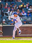 20 April 2013: New York Mets infielder Justin Turner in action against the Washington Nationals at Citi Field in Flushing, NY. The Mets fell to the visiting Nationals 7-6, tying their 3-game weekend series at one a piece. Mandatory Credit: Ed Wolfstein Photo *** RAW (NEF) Image File Available ***