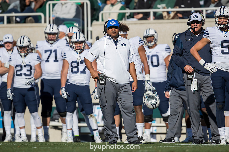16FTB at Michigan State 0464<br /> <br /> 16FTB at Michigan State<br /> <br /> BYU Football at Michigan State<br /> <br /> BYU-31<br /> MSU-14<br /> <br /> October 8, 2016<br /> <br /> Photo by Jaren Wilkey/BYU<br /> <br /> &copy; BYU PHOTO 2016<br /> All Rights Reserved<br /> photo@byu.edu  (801)422-7322