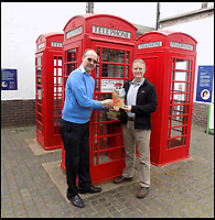 BNPS.co.uk (01202 558833)<br /> Pic: NigelLinge/BNPS<br /> <br /> Joint authors and friends Nigel Linge and Andy Sutton.<br /> <br /> The iconic British phonebox has been given a ringing endorsement in a new book charting the expiring institution's fascinating history. <br /> <br /> Aptly titled 'The British Phonebox', the book primarily focuses on the ubiquitous design that's as emblematic to Britain as the black cab, double decker bus and Houses of Parliament. <br /> <br /> Equally interesting are the early chapters, which detail the phonebox's humble 19th century beginnings and the final ones, that bemoan their dwindling numbers <br /> <br /> The 96 page paperback, jointly authored by friends Nigel Linge and Andy Sutton, is published by Amberley and costs &pound;13.49.
