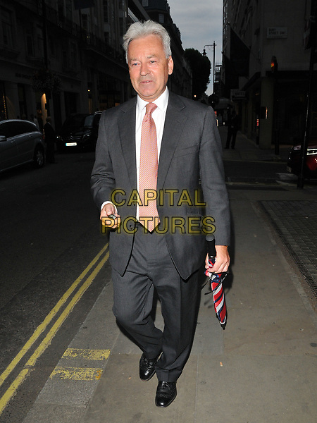 Alan Duncan MP spotted walking along Jermyn Street, London, England, UK, on Tuesday 18 July 2017.<br /> CAP/CAN<br /> &copy;CAN/Capital Pictures