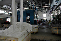 A dyeing  factory owned by Prem Textile Industries  Tirupur, Tamilnadu. After lifting of quota system in textile export on 1st january 2005. Tirupur has become the biggest foreign currency earning town of India.