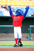 June 2, 2009: Casey one of the mascots for the Omaha Royals entertains fans at Rosenblatt Stadium in Omaha, NE.  Photo by: Chris Proctor/Four Seam Images