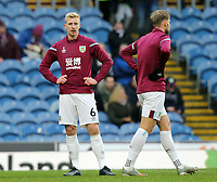 Burnley's Ben Mee during the pre-match warm-up <br /> <br /> Photographer Rich Linley/CameraSport<br /> <br /> The Premier League - Burnley v Crystal Palace - Saturday 30th November 2019 - Turf Moor - Burnley<br /> <br /> World Copyright © 2019 CameraSport. All rights reserved. 43 Linden Ave. Countesthorpe. Leicester. England. LE8 5PG - Tel: +44 (0) 116 277 4147 - admin@camerasport.com - www.camerasport.com