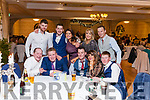 The 50th. Anniversary Fealsbridge Creamery Social was held last Friday night at the Devon Inn Hotel Templeglantine.  Attending the social are : <br /> Seated: Mike McAuliffe Knocknagoshel, Mark Brosnan Knocknagoshel, Mikey Mangan Knocknagoshel, Gillian Murphy Abbeyfeale, Ross Sugrue Tralee. <br /> Back: Gary Kelliher Lixnaw, Keith Harnett Abbeyfeale, Katie Mangan Knocknagoshel, Gemma Mangan Knocknagoshel , Jerry Mangan Knocknagoshel.