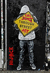 Street art by Hijack taken on another one of my photo walkabout in Los Angeles November 5, 2013. ©Fitzroy Barrett