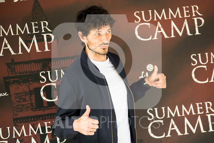 "Spanish actor and model Andres Velencoso during the presentation of the film ""Summer Camp"" at Cines Paz in Madrid. June 06. 2016. (ALTERPHOTOS/Borja B.Hojas)"