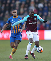 West Ham United's Angelo Ogbonna<br /> <br /> Photographer Rob Newell/CameraSport<br /> <br /> The Emirates FA Cup Third Round - Shrewsbury Town v West Ham United - Sunday 7th January 2018 - New Meadow - Shrewsbury<br />  <br /> World Copyright &copy; 2018 CameraSport. All rights reserved. 43 Linden Ave. Countesthorpe. Leicester. England. LE8 5PG - Tel: +44 (0) 116 277 4147 - admin@camerasport.com - www.camerasport.com