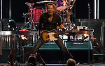 Bruce Springsteen and the E Street Band perform at the Sommet Center in Nashville, Tennessee on Thursday, August 21, 2008.  (Photo by Frederick Breedon IV)