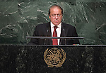Statement by His Excellency Muhammad Nawaz Sharif, Prime Minister of the Islamic Republic of Pakistan