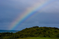 A rainbow behind the 6th green during Round 2 of the Irish Open at LaHinch Golf Club, LaHinch, Co. Clare on Friday 5th July 2019.<br /> Picture:  Thos Caffrey / Golffile<br /> <br /> All photos usage must carry mandatory copyright credit (© Golffile | Thos Caffrey)