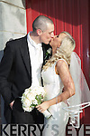 Hilary Stephenson, daughter of Frank & Angela, Tralee and Kieran Donaghy, son of Deirdre & the late Oliver, Tralee who were married on Friday in St Finian's Church, Waterville.  Fr.John Ahern & Fr. John Keirn officiated at the ceremony.  Best man was Conor Donaghy, groomsmen Michael Quirke, Daniel Bohan & Vinnie Murphy.  Maid of Honor was Emma McCarthy assisted by Jane Kerrisk, Sarah Donaghy & Elaine Curran.  Flower girls were Isabelle McCarthy, Rachel Stephenson & Grace Stephenson.  Pageboy Donal Fitzgerald.  The reception was held at Sneem Hotel.