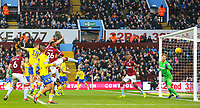Leeds United's Pontus Jansson scores his side's equalising goal to make the score 2-2<br /> <br /> Photographer Alex Dodd/CameraSport<br /> <br /> The EFL Sky Bet Championship - Aston Villa v Leeds United - Sunday 23rd December 2018 - Villa Park - Birmingham<br /> <br /> World Copyright &copy; 2018 CameraSport. All rights reserved. 43 Linden Ave. Countesthorpe. Leicester. England. LE8 5PG - Tel: +44 (0) 116 277 4147 - admin@camerasport.com - www.camerasport.com