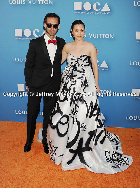 LOS ANGELES, CA - MAY 30: Actress China Chow (R) and guest arrive at the 2015 MOCA Gala presented by Louis Vuitton at The Geffen Contemporary at MOCA on May 30, 2015 in Los Angeles, California.