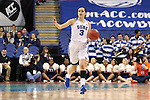 03 March 2016: Duke's Angela Salvadores (ESP). The Duke University Blue Devils played the University of Virginia Cavaliers at the Greensboro Coliseum in Greensboro, North Carolina in the Atlantic Coast Conference Women's Basketball tournament and a 2015-16 NCAA Division I Women's Basketball game. Duke won the game 57-53.