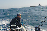 - sailing boat in navigation in Tyrrhenian sea<br /> <br /> - barca a vela in navigazione nel mar Tirreno