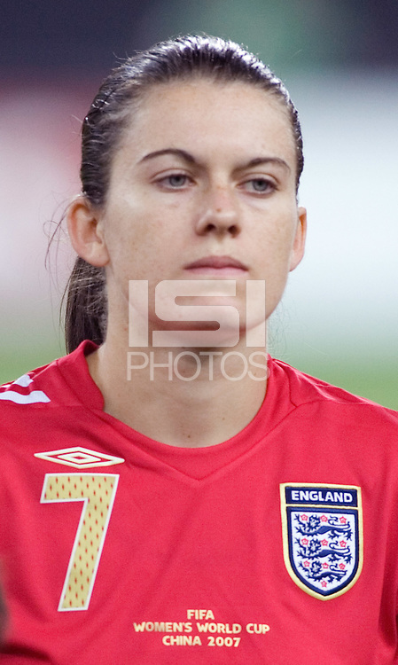 Karen Carney. The USA defeated England, 3-0 during the quarterfinals of the FIFA Women's World Cup in Tianjin, China.  The USA defeated England, 3-0.