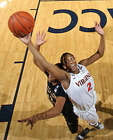 Feb. 7, 2011; Charlottesville, VA, USA; Virginia Cavaliers guard Whitny Edwards (2) fights for the rebound with Florida State Seminoles guard Courtney Ward (12) during the first half of the game at the John Paul Jones Arena.  Mandatory Credit: Andrew Shurtleff-US PRESSWIRE