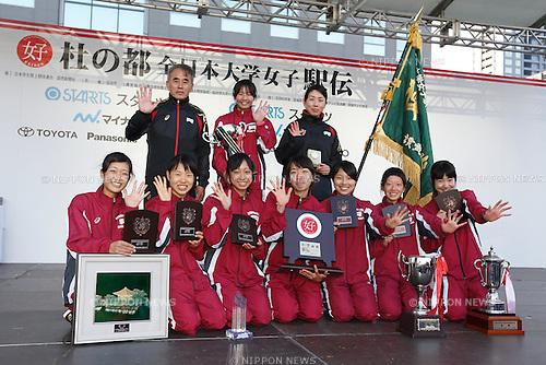 Ritsumeikan team group, OCTOBER 25, 2015 - Ekiden : The 33rd All Japan Women's University Ekiden in Miyagi, Japan. (Photo by AFLO)