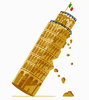 Leaning Tower of Pisa falling down ExclusiveImage