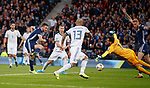 06.09.2019 Scotland v Russia, European Championship 2020 qualifying round, Hampden Park:<br /> John McGinn scores the opening goal past Guilherme