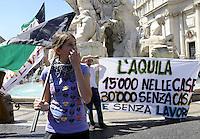 Roma, 24 Giugno 2010.Piazza Navona.L'Aquila,  consiglio comunale straordinario a Roma..L'Aquila, extraordinary council in Rome.