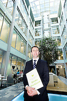 Michael Matheson, Minister for Public Health at the NHS Offices at Waterloo Place with the Stroke Workbook which is launched today, with research showing it speeds recovery, Edinburgh, Scotland, 3rd October, 2012..Picture:Scott Taylor Universal News And Sport (Europe) .All pictures must be credited to www.universalnewsandsport.com. (Office)0844 884 51 22.
