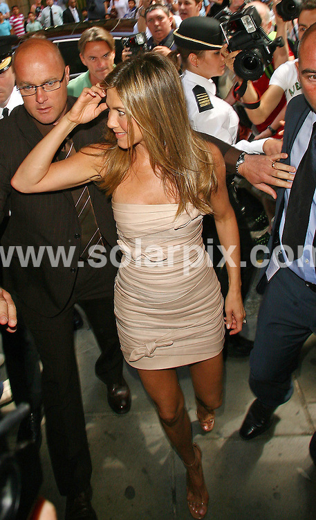 **ALL ROUND PICTURES FROM SOLARPIX.COM**.**WORLDWIDE SYNDICATION RIGHTS**.Jennifer Aniston arrives at the Harrods Store in London, UK. 21 July 2010.This pic: Jennifer Aniston..JOB REF: 11728 LNJ     DATE: 21_07_2010.**MUST CREDIT SOLARPIX.COM OR DOUBLE FEE WILL BE CHARGED**.**MUST NOTIFY SOLARPIX OF ONLINE USAGE**.**CALL US ON: +34 952 811 768 or LOW RATE FROM UK 0844 617 7637**