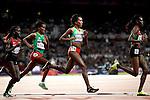 Engeland, London, 4 Augustus 2012.Olympische Spelen London.De Ethiopische atlete Eugene Dibaba wint de 10.000 meter op de Olympische spelen in London