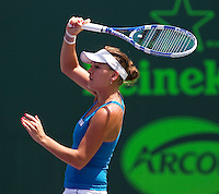 Agnieszka RADWANSKA (POL) against Venus WILLIAMS (USA) in the quarter finals for the women's singles. Venus Williams beat Agnieszka Radwanska 6-3 6-1..International Tennis - 2010 ATP World Tour - Sony Ericsson Open - Crandon Park Tennis Center - Key Biscayne - Miami - Florida - USA - Tue 30th Mar 2010..© Frey - Amn Images, Level 1, Barry House, 20-22 Worple Road, London, SW19 4DH, UK .Tel - +44 20 8947 0100.Fax -+44 20 8947 0117