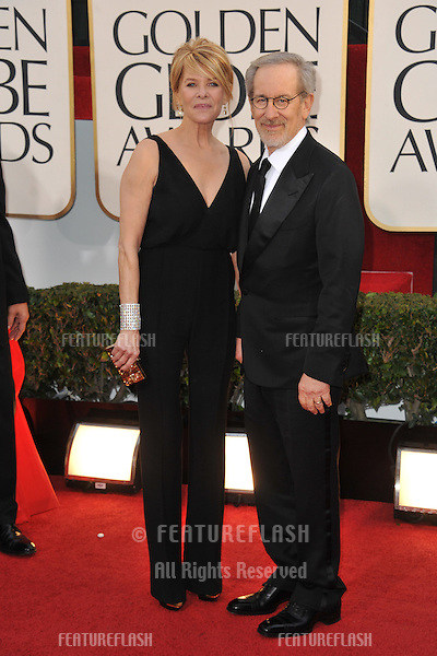 Steven Spielberg & Kate Capshaw at the 70th Golden Globe Awards at the Beverly Hilton Hotel..January 13, 2013  Beverly Hills, CA.Picture: Paul Smith / Featureflash
