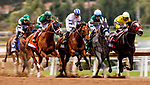 MAY 27: The field for the Gold Cup at Santa Anita Park races under the finish line for the first time in Arcadia, California on May 27, 2019. Evers/Eclipse Sportswire/CSM