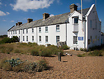 Coastguard cottages, Shingle Street, Suffolk, England