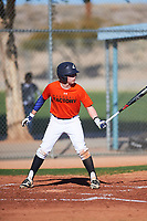 Blake Bonds (45), from Kennewick, Washington, while playing for the Orioles during the Under Armour Baseball Factory Recruiting Classic at Red Mountain Baseball Complex on December 29, 2017 in Mesa, Arizona. (Zachary Lucy/Four Seam Images)