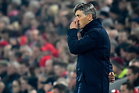 LIVERPOOL, GREAT BRITAN - NOVEMBER 5 :  Felice Mazzu head coach of Genk pictured during the UEFA Champions League match between Liverpool FC and KRC Genk on November 05, 2019 in Liverpool, Great Britan, 5/11/2019 <br /> Liverpool 5-11-2019 Anfield <br /> Liverpool - Genk <br /> Champions League 2019/2020<br /> Foto Photonews / Panoramic / Insidefoto <br /> Italy Only