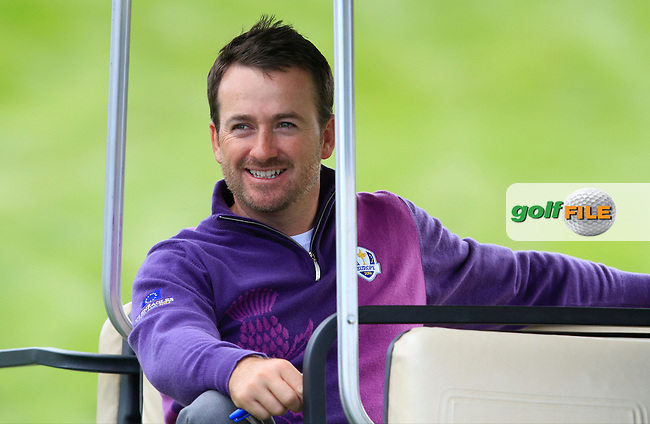 Graeme McDowell (EUR) during Practice on Wednesday at the 40th Ryder Cup, The Gleneagles Hotel, Perthshire from 26th to 28th September 2014<br /> Picture Thos Caffrey, www.golffile.ie