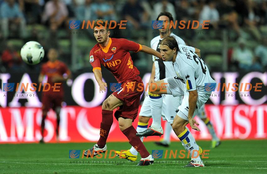 "Fabio BORINI (Roma), Gabriel PALETTA (Parma).Parma 25/9/2011 Stadio ""Ennio Tardini"".Serie A 2011/2012.Football Calcio Parma Vs Roma.Foto Insidefoto Alessandro Sabattini."