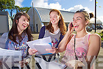 Michelle Williams, Ballydunlea, Sarah Carney, Tralee and Charlotte Gurney, Barrow Students from Mercy Mounthawk Secondary School Tralee after receiving their Leaving Certificate results on Wednesday.