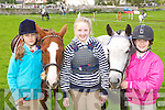Katie Tobin-Walsh Tralee, Laura Brassil Kilflynn, and Aisling Hayes Ballymac enjoying the competition  at the Killorglin Pony show on Sunday..