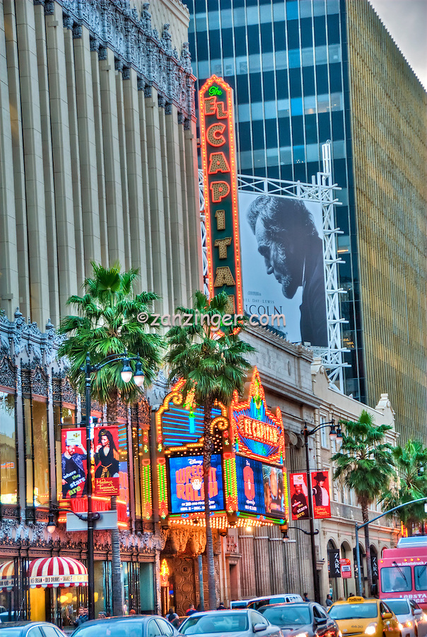 El Capitan Theatre, Hollywood, Blvd.,Attractions, Hotels, Boulevard, Entertainment, Museums, Tourist, Neighborhood, Sights, Los Angeles, Ca,