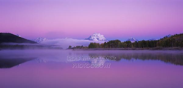 Oxbow Bend at dawn, Grand Teton NP,Wyoming, USA