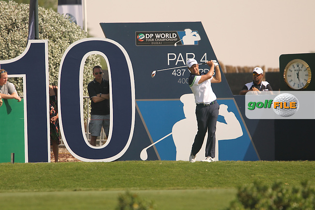 Simon KHAN (ENG) during round 2 of the season ending DP World, Tour Championship, Dubai, UAE.<br /> Picture: Denise Cleary www.golffile.ie