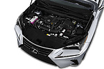 Car stock 2018 Lexus NX 300 FWD 5 Door SUV engine high angle detail view