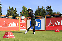 Danny Willett (ENG) tees off the 14th tee during Thursday's Round 1 of the 2017 Omega European Masters held at Golf Club Crans-Sur-Sierre, Crans Montana, Switzerland. 7th September 2017.<br /> Picture: Eoin Clarke | Golffile<br /> <br /> <br /> All photos usage must carry mandatory copyright credit (&copy; Golffile | Eoin Clarke)